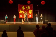 Students at Chinese New Year event