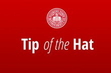 Image of Illinois State University seal and text reading Tip of the Hat.