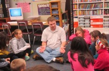 Paul Solarz teaches fifth-graders
