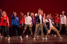 Students performing in a dance-off