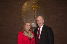 image of Maggie Im and President Emeritus David Strand