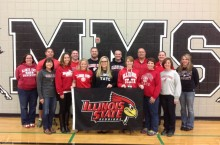ISU alumni pose at Marlowe school