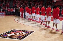 ISU team lines up at NIT game