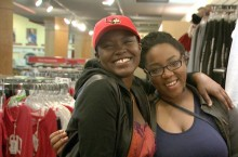 Adebosola and Tia at the bookstore