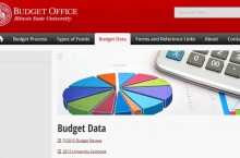 screen shot of budget office website