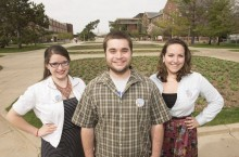 Katherine Apperson, Kyle Kolling, and Savannah Brown