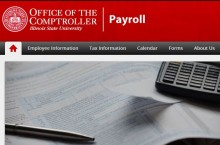 screen shot of Payroll websote home page