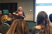 Assistant Professor in the Department of Special Education April Mustian presents at the 2015 Teaching is a Balancing Act Conference.