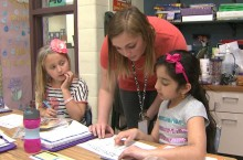 Kelli works with students