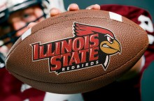 football with Illinois State and Redbird head