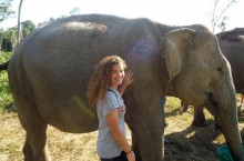 Jill Tezak helped out at an elephant sanctuary in the Southeast Asian country of Cambodia.