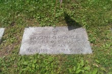 Photo of Howell's headstone