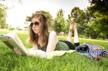 reading on the quad