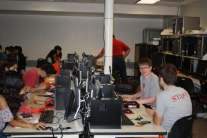Campers are seen programming Arduinos