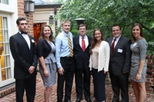 Dietz poses with summer interns