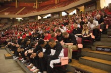 memorial event at Redbird Arena
