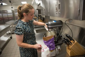 image of Assistant Professor Rachel Vollmer working in the Food Science Lab