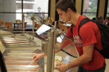 Nick Bednarek at a campus dining center