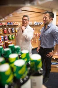 Pharmacy supervisor helps student with over-the-counter medication choices.