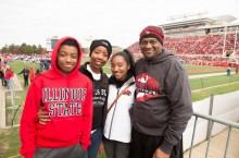 Family at football game