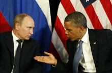 image of Russian President Vladmir Putin and U.S. President Barack Obama.