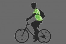 Illustration of someone riding a bike