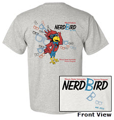 "The new, limited edition ""Nerdbird"" shirts."