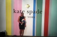 Mallory Kohlmeyer poses at Kate Spade event