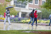 image of ISU Quad on a rainy day