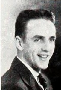 ISNU 1937 yearbook photograph of Carl Wene.