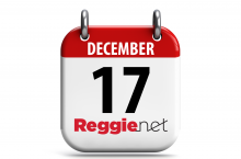 Calendar showing December 17 and ReggieNet logo.