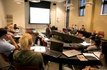 COB professor teaches in a classroom