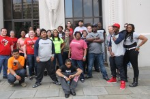 YouthBuild students and Illinois State teacher candidates explored the City Museum of St. Louis together.