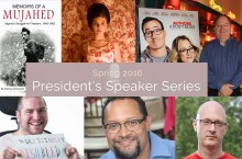 images of speakers from 2016 President's Spring Speaker Series