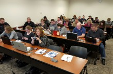 workshop attendees on laptops