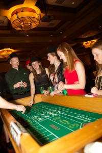 Students at Up Late's Casino Royale event