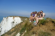 Illinois State students visit Beachy Head during their study abroad trip to England.
