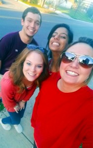 Illinois State education majors enjoy the sunny weather in January while student teaching in San Antonio.