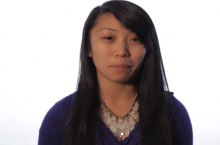 Image of a student from the It's On Us video