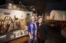 image of Illinois State's Gina Hunter with the museum's Susan Hartzold.