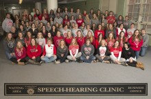 Students, faculty, and staff of the Department of Communication Sciences and Disorders.