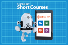 Robot, tablet, Office365