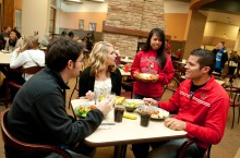 Students eat at Watterson Dining Commons