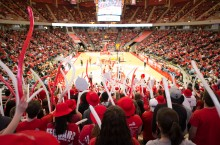 Fans cheer on ISU at Redbird Arena