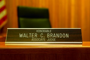 Judge Walter Brandon Jr. desk