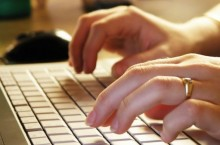 image of hands typing