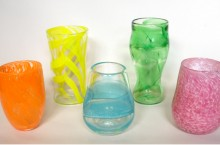 image of glass cups from ISU Gather Glass sale