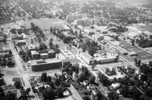 Aerial view looking SW in 1966