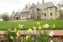Ewing Manor in spring
