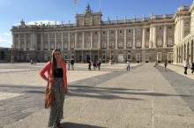 Elementary education major Sarah Brown studies in Spain during the summer 2015.